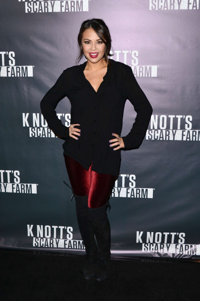 Janel Parrish - Knott's Scary Farm Opening Night in Buena Park