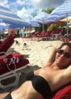 Jeanette Lee wearing black bikini -01