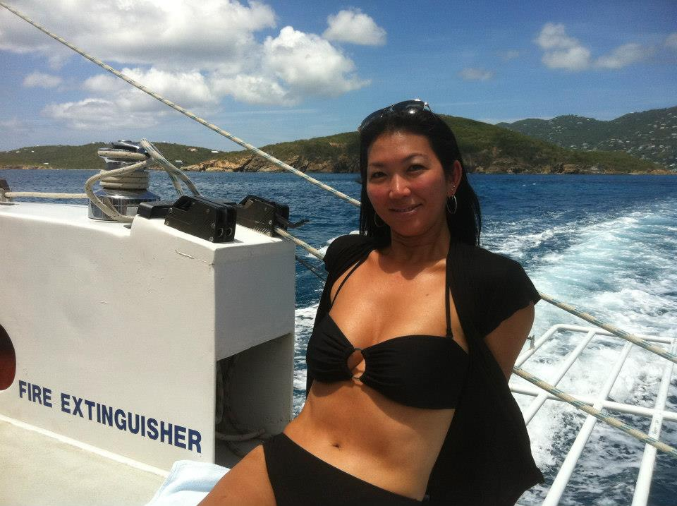 Jeanette Lee Wearing Black Bikini 02 Gotceleb