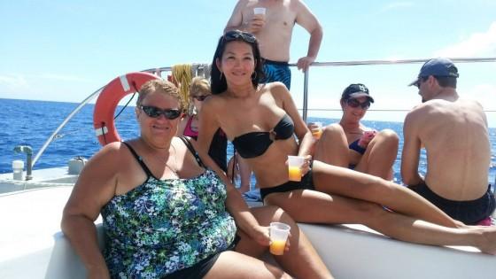Jeanette Lee wearing black bikini -03