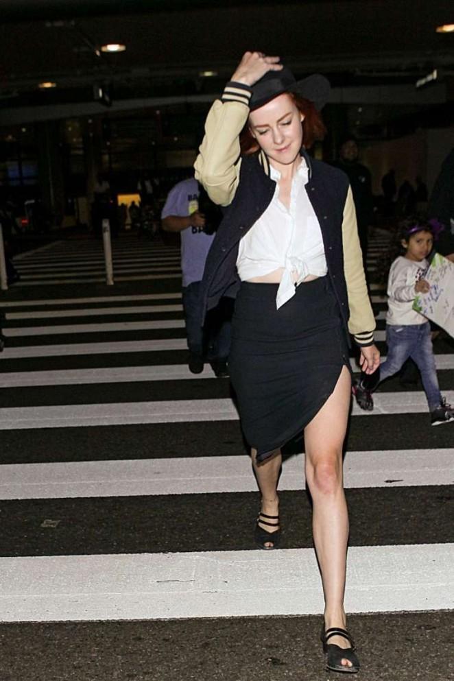 Jena Malone at LAX Airport in LA