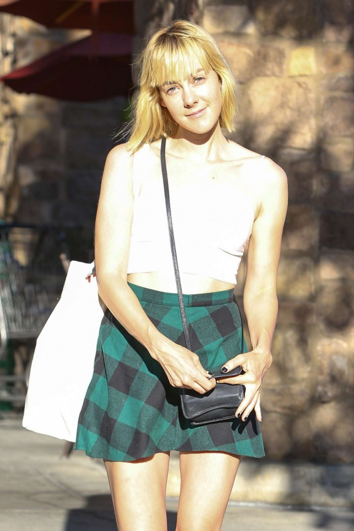 Jena Malone in Mini Skirt Outside Gelson's Market in Los Feliz