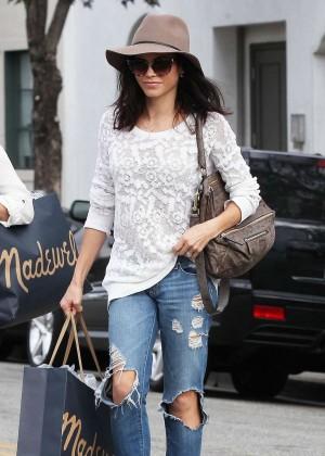 Jenna Dewan Tatum in Ripped Jeans Shopping in Beverly Hills