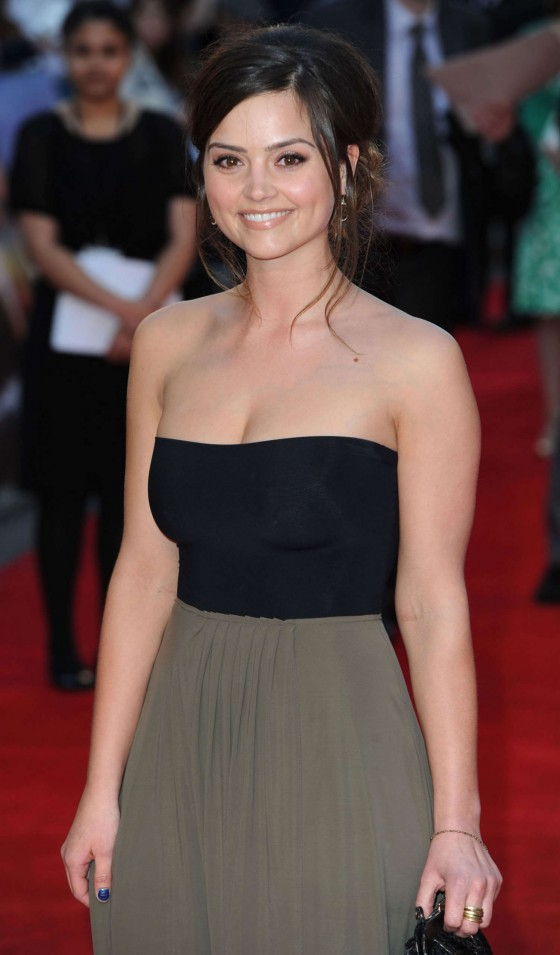Jenna Louise Coleman cleavage at Titanic 3D
