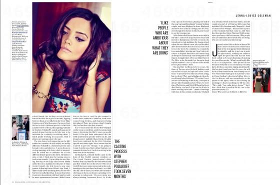 Jenna Louise Coleman – ES Magazine 2013 -04