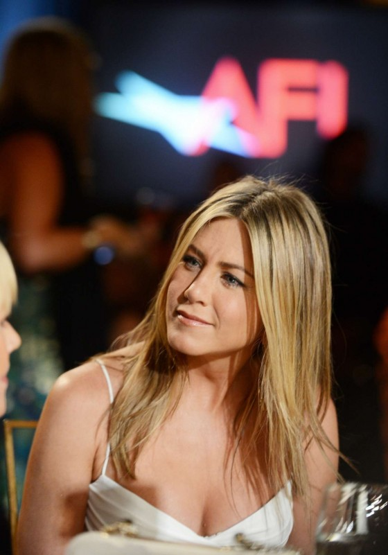 Jennifer Aniston - Looking hot in white dress at 2012 AFI Life Achievement Award Honoring Shirley MacLaine