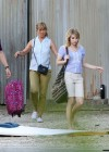"Jennifer Aniston and Emma Roberts - On the set of ""We're the Millers"" in Wilmington"