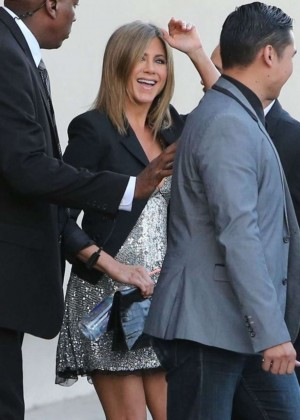 "Jennifer Aniston at ""Jimmy Kimmel Live!"" in Hollywood"