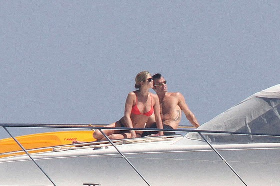 Jennifer Aniston - Bikini Candids On a Yacht in Capri