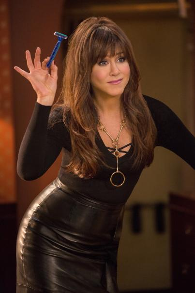 Jennifer Aniston in Leather at 'Horrible Bosses 2' Promos