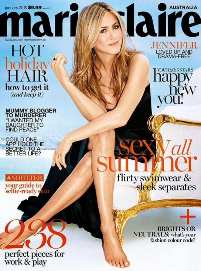 Jennifer Aniston - Marie Claire Australia Magazine Cover (January 2015)