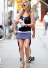 Jennifer Aniston hot in purple mini skirt -03