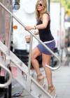 Jennifer Aniston hot in purple mini skirt -04