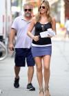 Jennifer Aniston hot in purple mini skirt -07