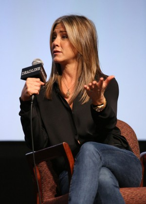 Jennifer Aniston Onstage during Deadline's The Contenders at DGA Theater Los Angeles