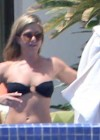 Jennifer Aniston Pictures: black bikini in Cabo 2013-12