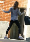 Jennifer Garner - in tights, at the gym in LA 1/10/13