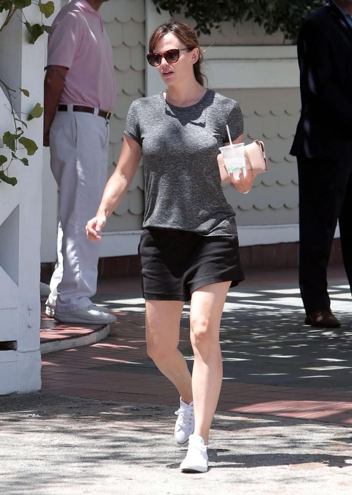Jennifer Garner in Black Shorts out in Santa Monica