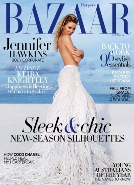 Jennifer Hawkins – Harpers Bazaar Magazine -03