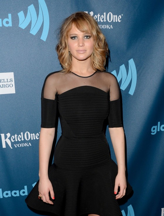 Jennifer Lawrence - 24th Annual GLAAD Media Awards -01