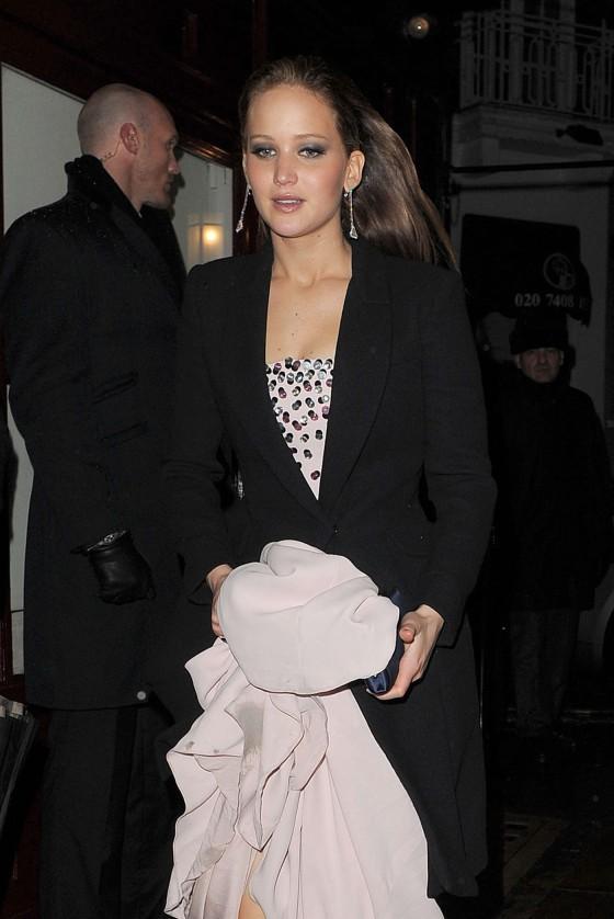 Jennifer Lawrence at BAFTA 2013 Afterparty-04