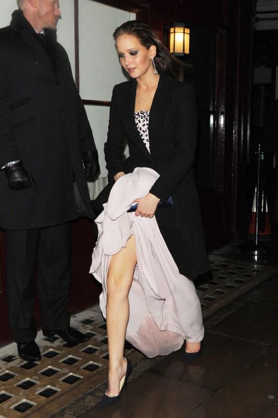 Jennifer Lawrence at BAFTA 2013 Afterparty-06