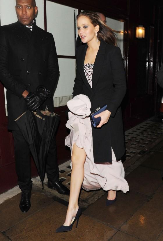 Jennifer Lawrence at BAFTA 2013 Afterparty-09
