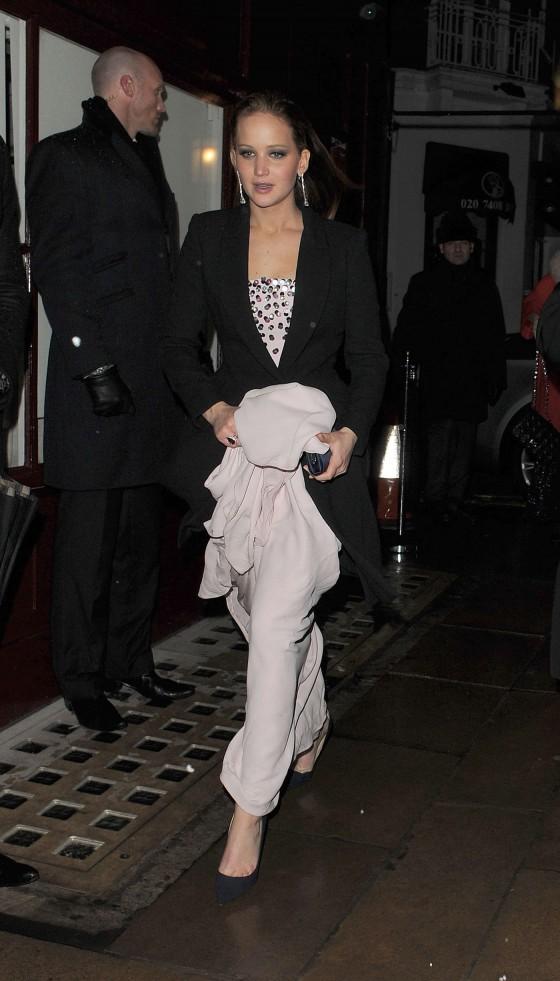 Jennifer Lawrence at BAFTA 2013 Afterparty-11