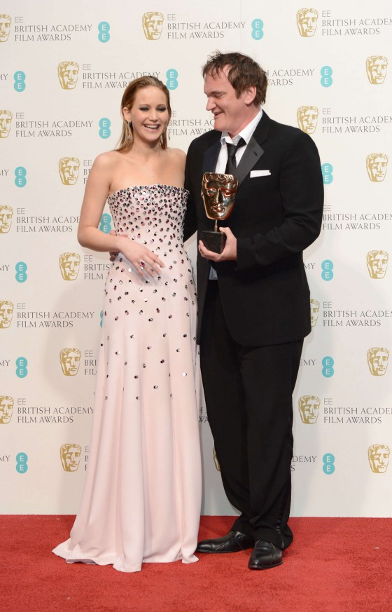 Jennifer Lawrence at BAFTA 2013 Awards in London -05