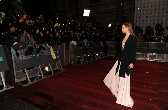 Jennifer Lawrence at BAFTA 2013 Awards in London -06