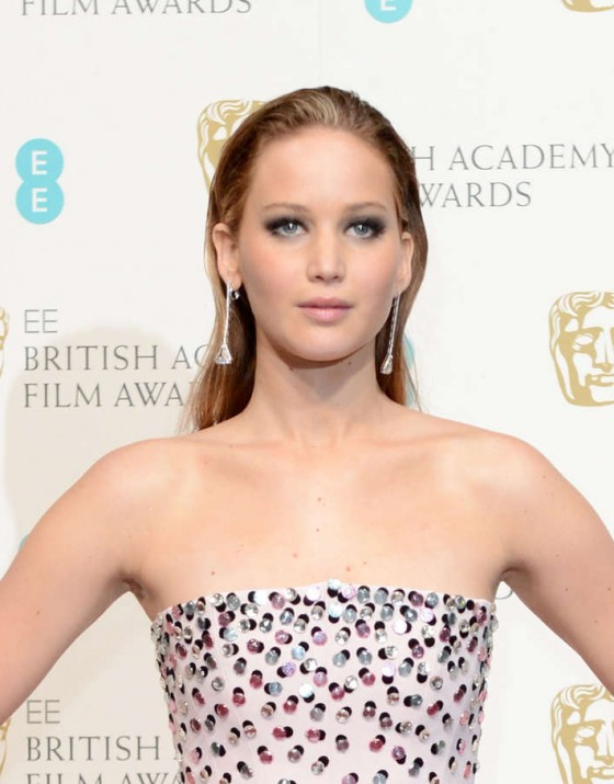 Jennifer Lawrence at BAFTA 2013 Awards