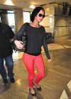 Jennifer Lawrence Wear Pink Jeans at LAX in Los Angeles