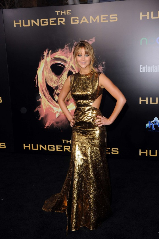 Jennifer Lawrence at Premiere The Hunger Games-13