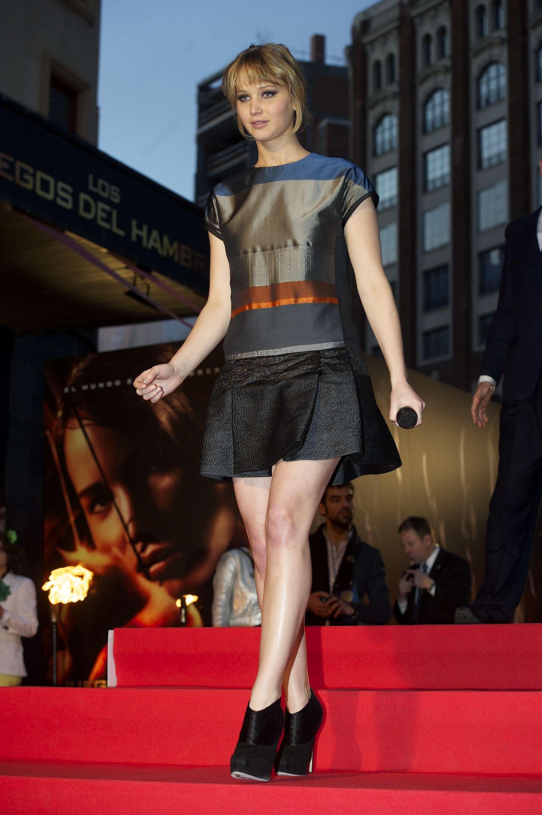 Jennifer Lawrence at The Hunger Games Spanish Premiere - GotCeleb