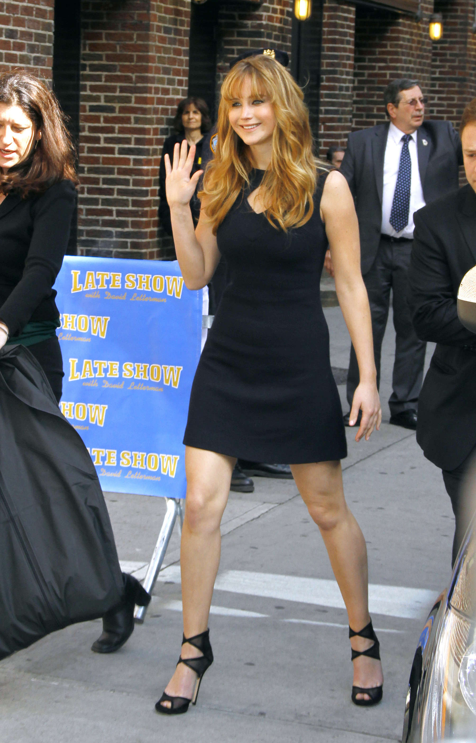 Jennifer Lawrence legs at the Late Show with David Letterman-01 ...