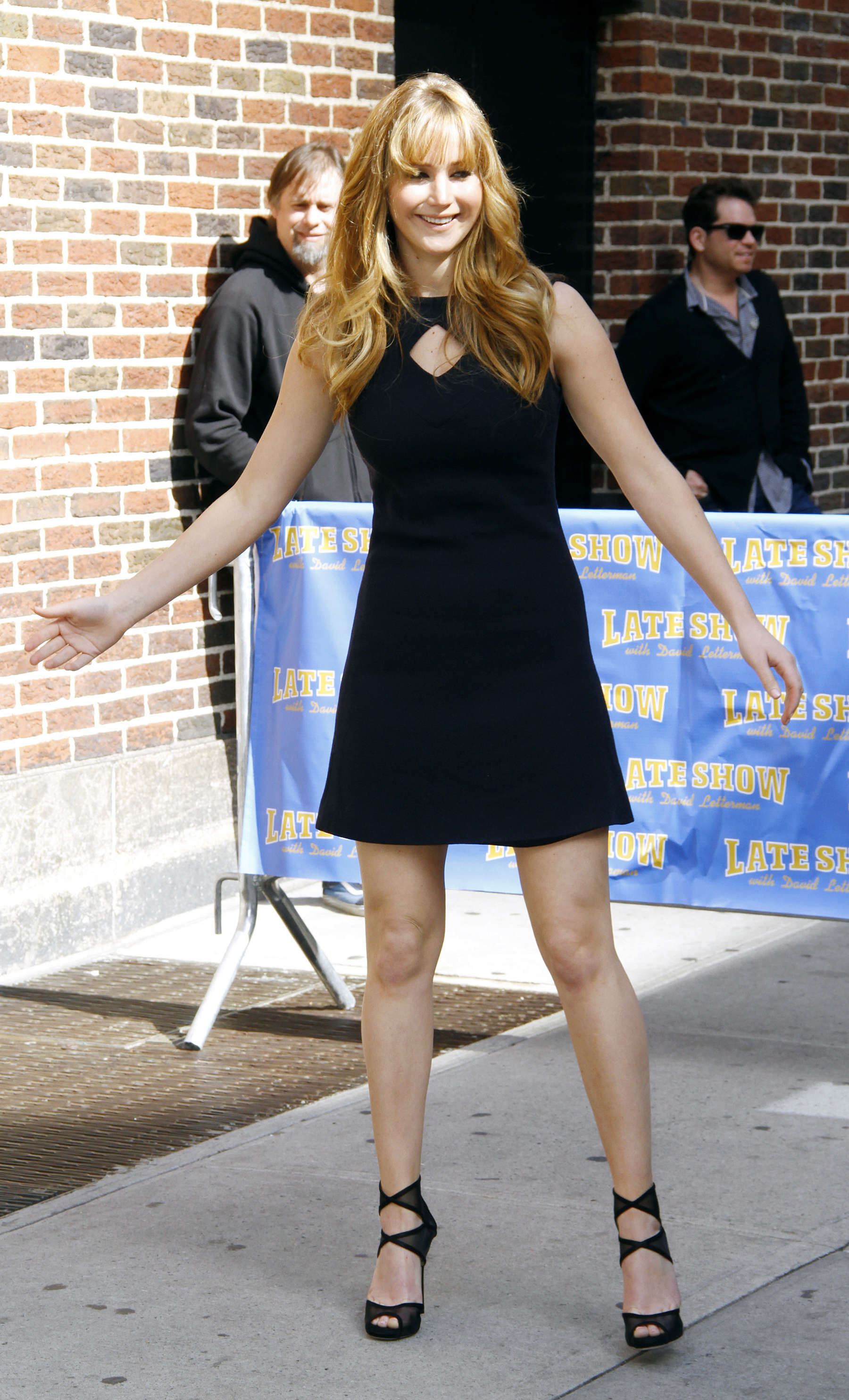 Jennifer Lawrence legs at the Late Show with David Letterman-04 ...