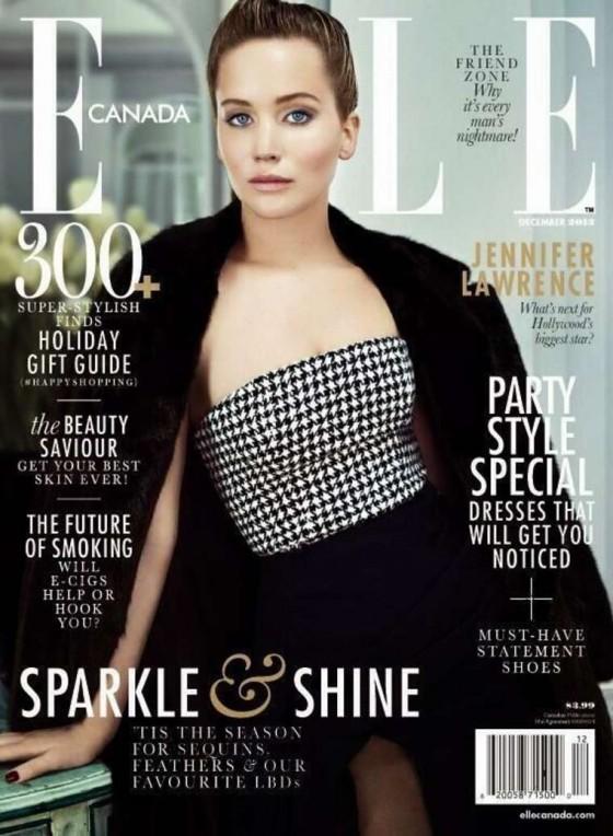 Jennifer Lawrence: Elle Magazine Cover -01