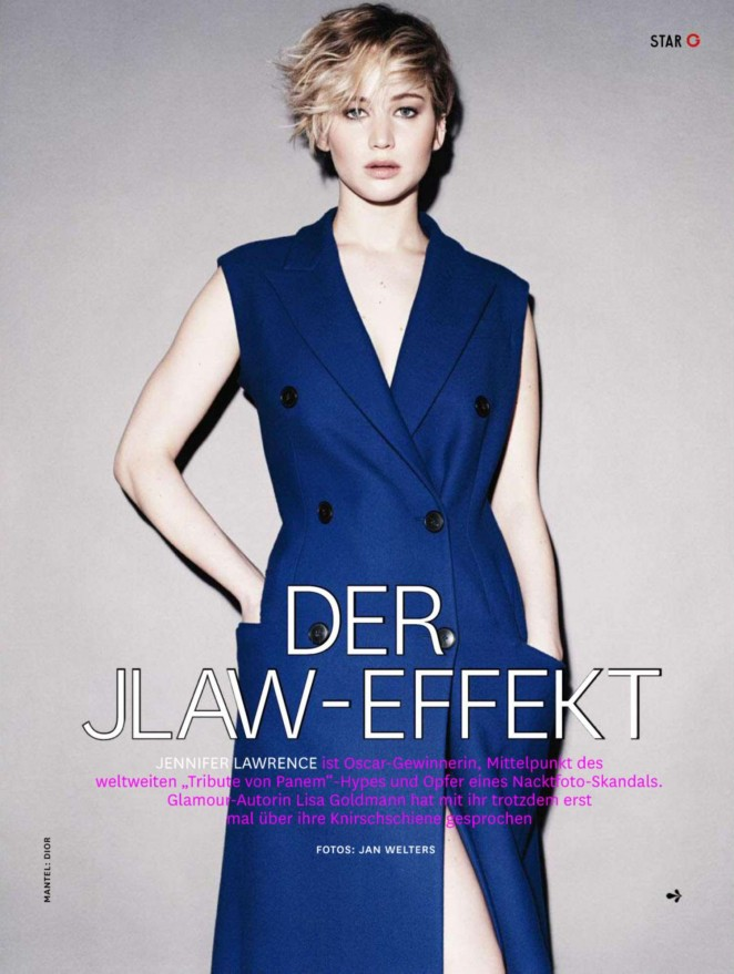 Jennifer Lawrence - Glamour Germany Magazine (December 2014)