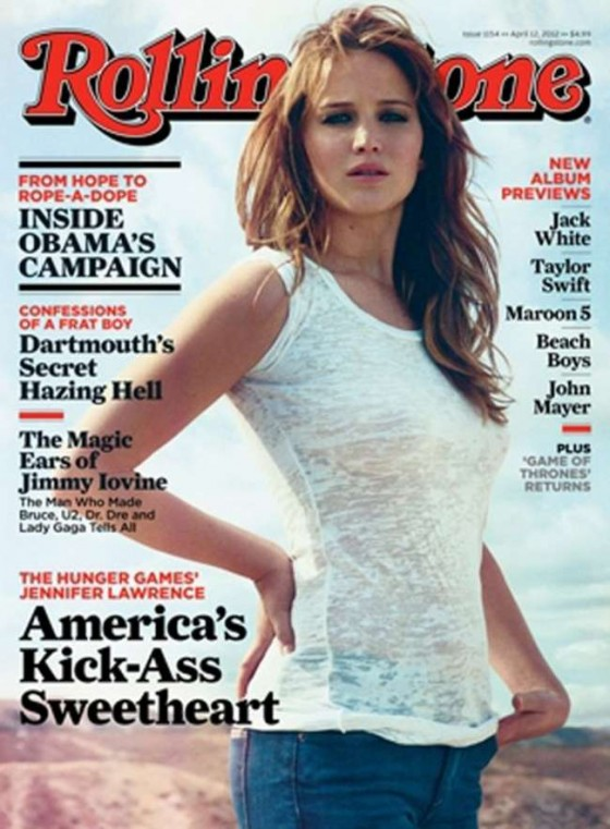 Jennifer Lawrence in Rolling Stone Cover 2012