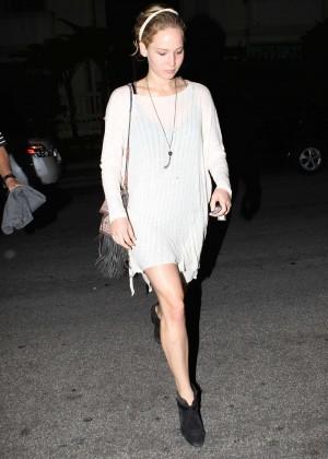 Jennifer Lawrence in Mini Dress out in LA