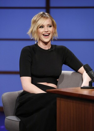 Jennifer Lawrence with Seth Meyers -12