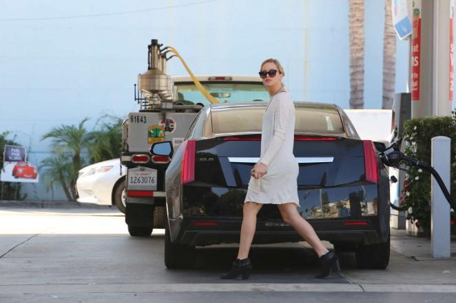 Jennifer Lawrence Leggy in Mini Dress -08