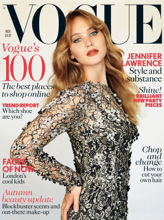 Jennifer Lawrence - Vogue UK Magazine (November 2012)