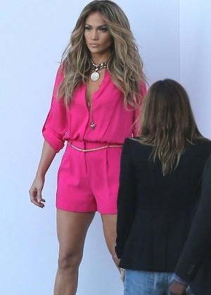 Jennifer Lopez in Pink Shorts at American Idol -12