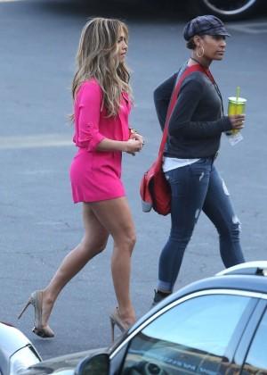 Jennifer Lopez in Pink Shorts at American Idol -13