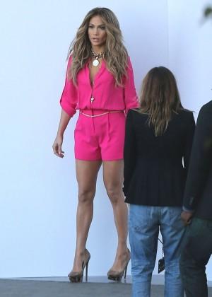 Jennifer Lopez in Pink Shorts at American Idol -19