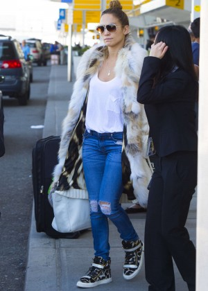 Jennifer Lopez at JFK Airport in NYC