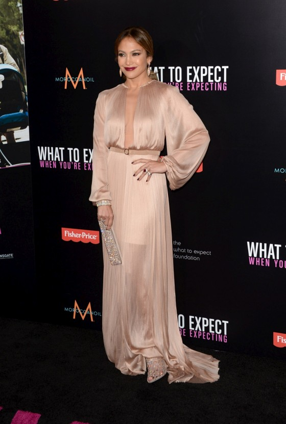 Jennifer Lopez at What To Expect When You are Expecting Premiere in Los Angeles