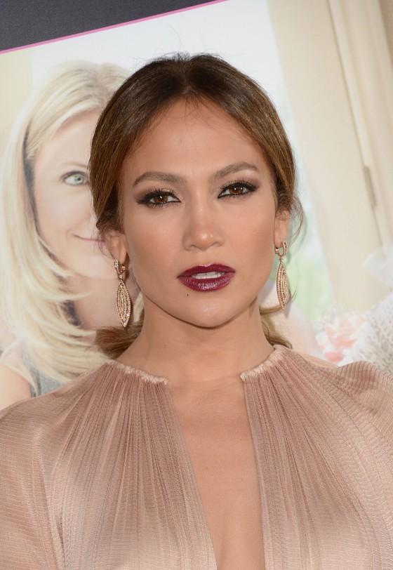 Jennifer Lopez wears blue, sheer mini dress to Boy Next