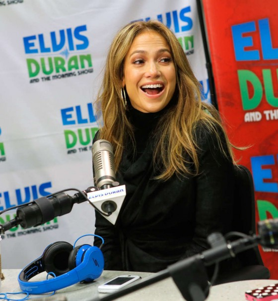 Jennifer Lopez at Z100 Studio -11